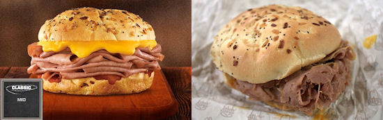 Snack vergelijking: Arby