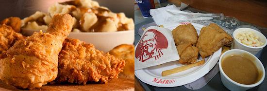 Snack vergelijking: KFC