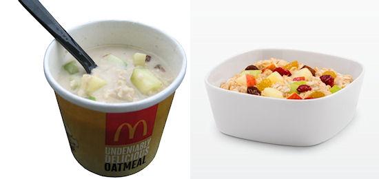 Snack vergelijking McDonald's