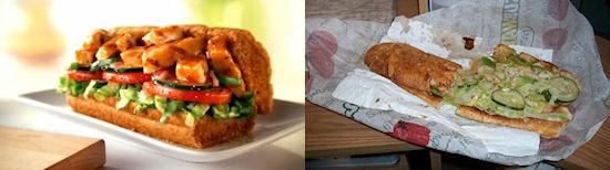 Snack vergelijking: Subway