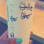 Starbucks naam beker