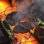 Een steak bereiden met lava