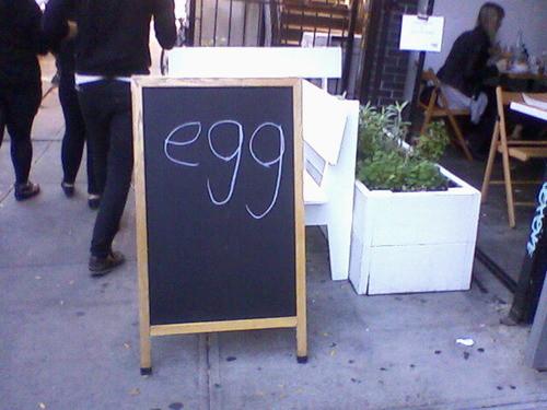 Uithangbord: egg