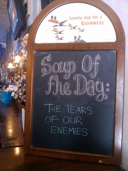 Uithangbord: Soep van de dag