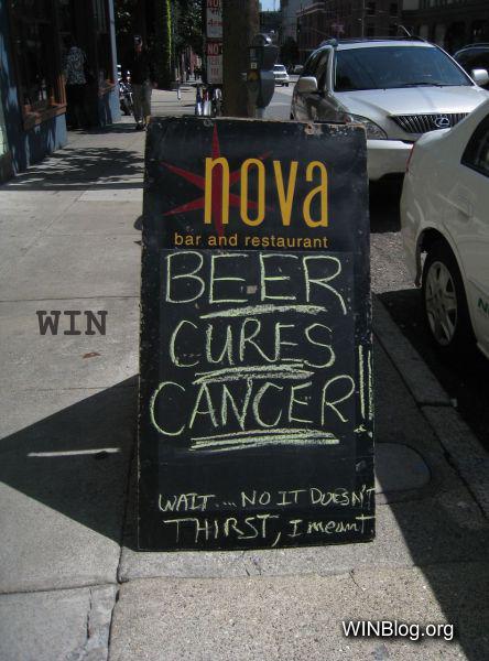 Uithangbord: Bier en medische kennis