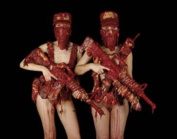 Vrouwen met vleeswapen