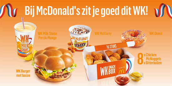 WK2014 producten McDonald's