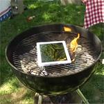 Een iPad op de barbecue